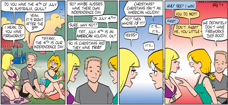 Comic Strip Greg Evans  Luann 2010-07-04 America