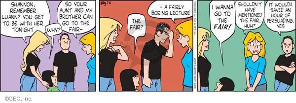 Comic Strip Greg Evans  Luann 2010-07-06 niece