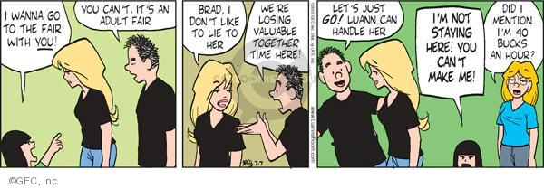 Comic Strip Greg Evans  Luann 2010-07-07 bad time