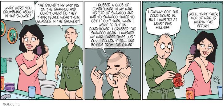 Comic Strip Greg Evans  Luann 2010-07-18 loss