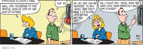 Comic Strip Greg Evans  Luann 2010-07-20 get well