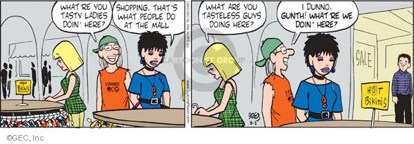 Comic Strip Greg Evans  Luann 2010-08-03 shopping mall