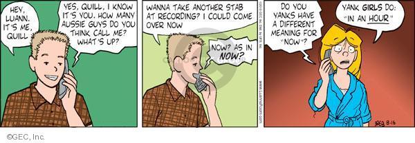 Cartoonist Greg Evans  Luann 2010-08-16 date