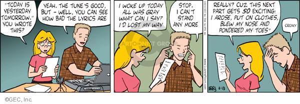 Comic Strip Greg Evans  Luann 2010-08-18 tune