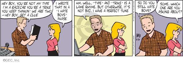 Cartoonist Greg Evans  Luann 2010-08-20 date