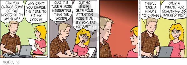 Comic Strip Greg Evans  Luann 2010-08-21 tune