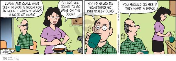 Cartoonist Greg Evans  Luann 2010-08-23 date
