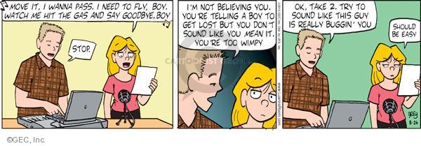 Comic Strip Greg Evans  Luann 2010-08-26 watch