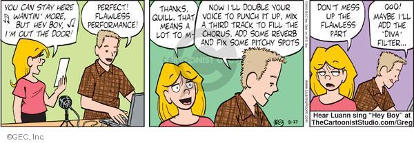 Comic Strip Greg Evans  Luann 2010-08-27 voice