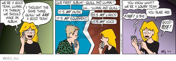 Comic Strip Greg Evans  Luann 2010-09-04 feud