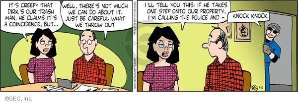 Comic Strip Greg Evans  Luann 2010-09-11 careful
