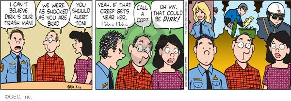 Comic Strip Greg Evans  Luann 2010-09-16 law enforcement