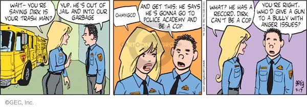 Comic Strip Greg Evans  Luann 2010-09-17 law enforcement