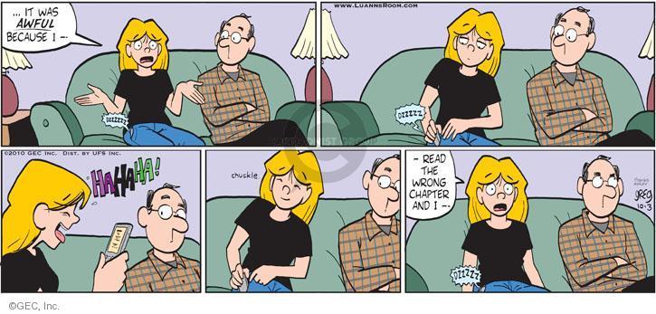 Comic Strip Greg Evans  Luann 2010-10-03 family