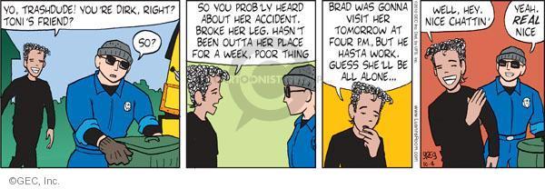 Comic Strip Greg Evans  Luann 2010-10-04 ex-boyfriend
