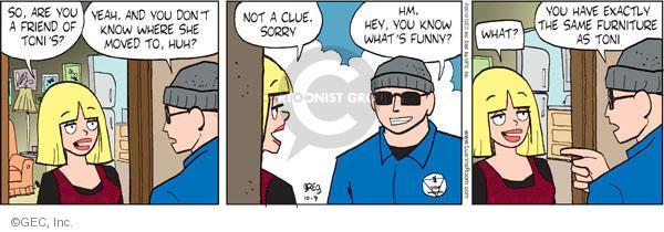 Comic Strip Greg Evans  Luann 2010-10-09 Toni