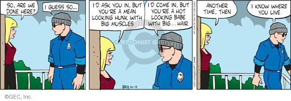 Comic Strip Greg Evans  Luann 2010-10-13 big hair