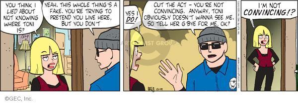 Cartoonist Greg Evans  Luann 2010-10-15 convince