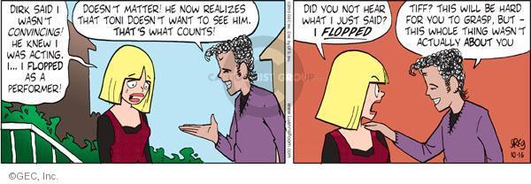 Comic Strip Greg Evans  Luann 2010-10-16 Toni