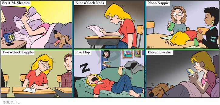 Comic Strip Greg Evans  Luann 2010-10-24 sleepy