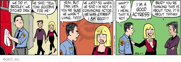 Cartoonist Greg Evans  Luann 2010-10-18 convince