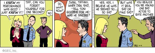 Comic Strip Greg Evans  Luann 2010-10-19 Toni