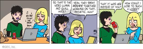 Comic Strip Greg Evans  Luann 2010-11-01 out door
