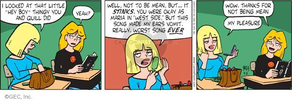 Comic Strip Greg Evans  Luann 2010-11-02 pleasure