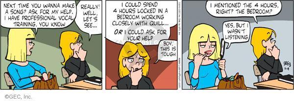 Comic Strip Greg Evans  Luann 2010-11-04 singer