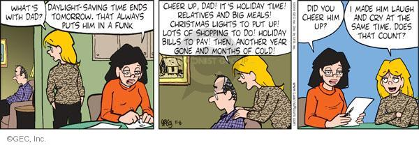 Comic Strip Greg Evans  Luann 2010-11-06 mealtime