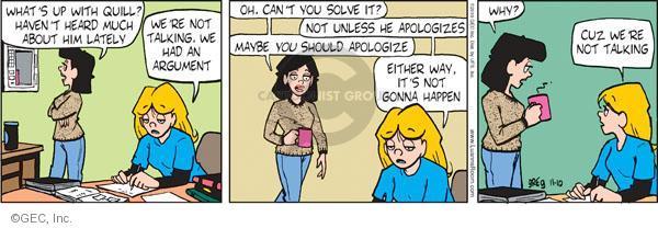 Comic Strip Greg Evans  Luann 2010-11-10 argument