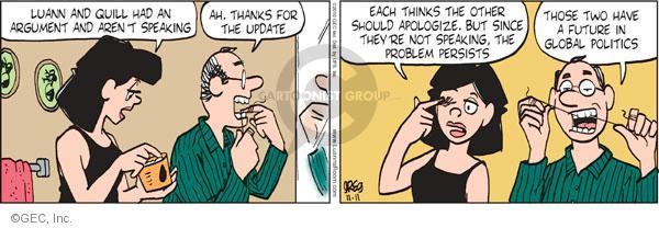 Comic Strip Greg Evans  Luann 2010-11-11 negotiation