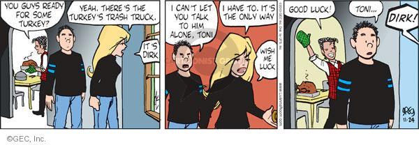 Comic Strip Greg Evans  Luann 2010-11-24 good guy