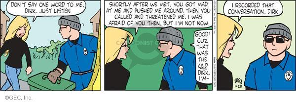 Comic Strip Greg Evans  Luann 2010-11-25 threat