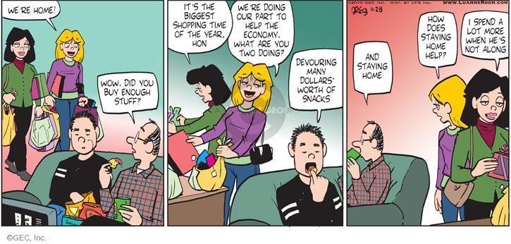 Cartoonist Greg Evans  Luann 2010-11-28 holiday season