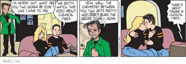 Comic Strip Greg Evans  Luann 2010-11-29 chemistry