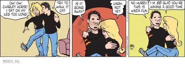 Comic Strip Greg Evans  Luann 2010-12-01 uncomfortable