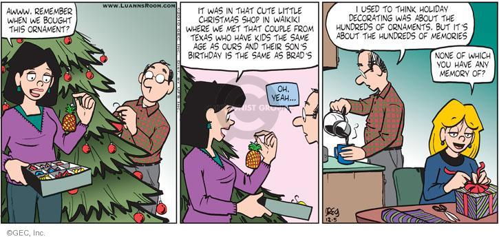 Comic Strip Greg Evans  Luann 2010-12-05 birthday
