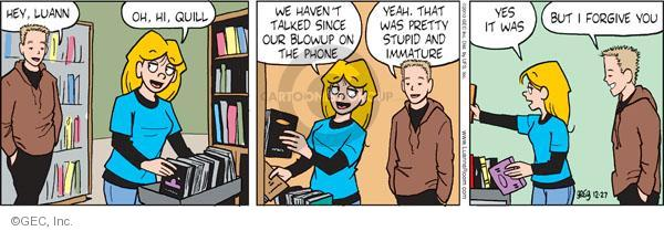 Comic Strip Greg Evans  Luann 2010-12-27 reconciliation