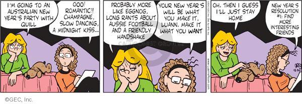 Comic Strip Greg Evans  Luann 2010-12-30 football