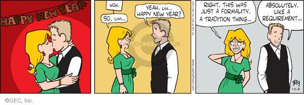 Comic Strip Greg Evans  Luann 2011-01-01 kiss
