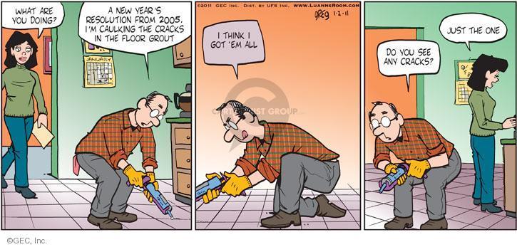 Comic Strip Greg Evans  Luann 2011-01-02 2005