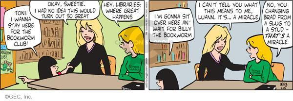 Comic Strip Greg Evans  Luann 2011-01-15 stud