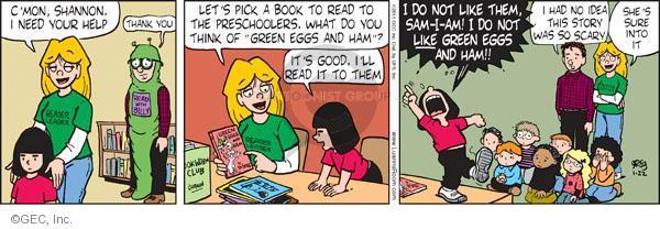 Comic Strip Greg Evans  Luann 2011-01-22 library book