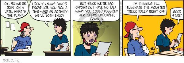 Comic Strip Greg Evans  Luann 2011-01-28 begin