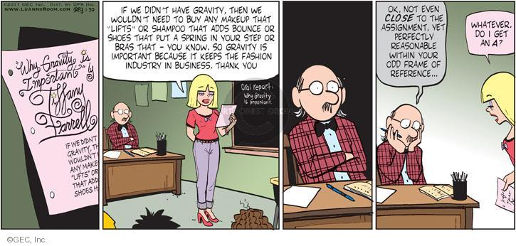 Comic Strip Greg Evans  Luann 2011-01-30 grade school