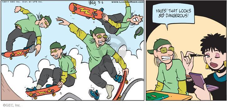 Comic Strip Greg Evans  Luann 2011-02-06 dangerous
