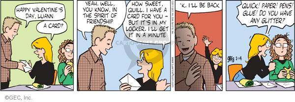 Comic Strip Greg Evans  Luann 2011-02-14 glue