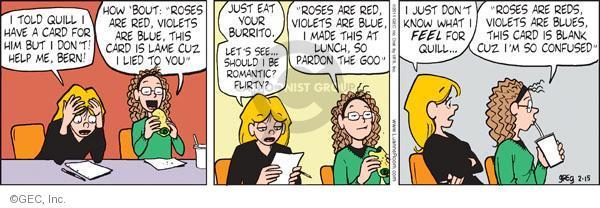 Comic Strip Greg Evans  Luann 2011-02-15 red