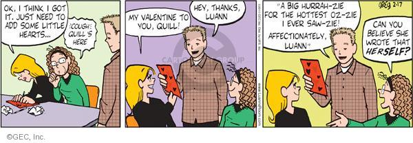 Comic Strip Greg Evans  Luann 2011-02-17 affection